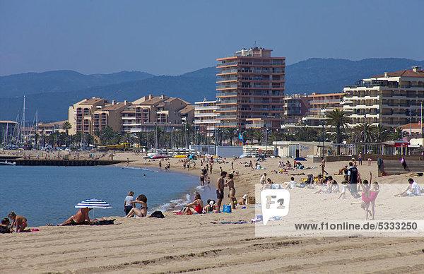 Frankreich, Europa, Mensch, Menschen, Strand, Cote d Azur, Alpes-Maritimes, Südfrankreich