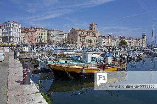 Hafen Frankreich Europa Boot angeln Südfrankreich