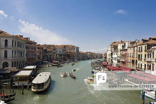 Canal Grande in Venedig  Italien  Europa