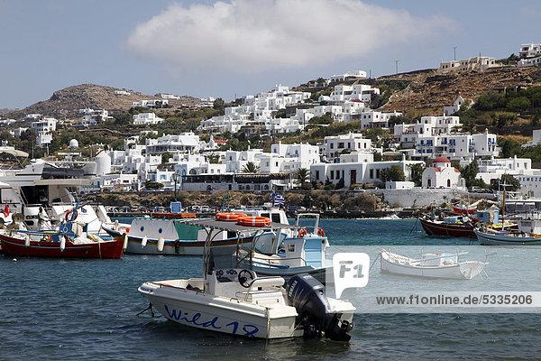 Europa Boot Altstadt Bucht Griechenland Mykonos