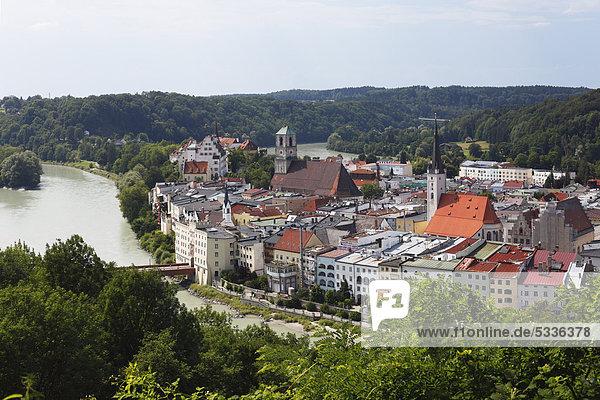 Europa Bayern Deutschland Oberbayern Wasserburg am Inn