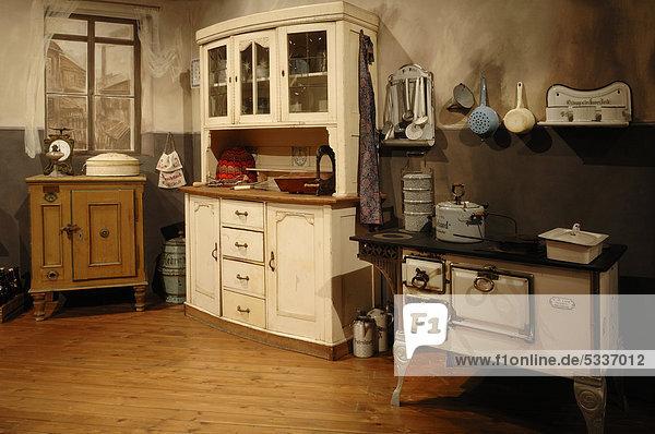 bayern deutschland europa mittelfranken museum industriekultur n rnberg k che um 1900. Black Bedroom Furniture Sets. Home Design Ideas