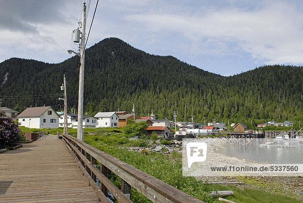 First Nation village of the Gitga'ata people  Hartley Bay  British Columbia  Canada  North America
