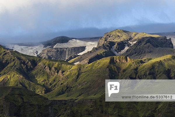 _Ûrsmörk oder Thorsmörk Bergrücken  isländisches Hochland  Südisland  Island  Europa