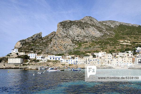 Levanzo  Ägadische Inseln  Sizilien  Italien  Europa