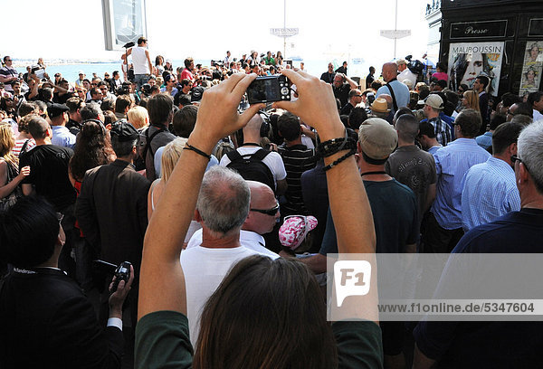 Waiting fans of Lady Gaga  International Film Festival  Cannes  CÙte d'Azur  France  Europe