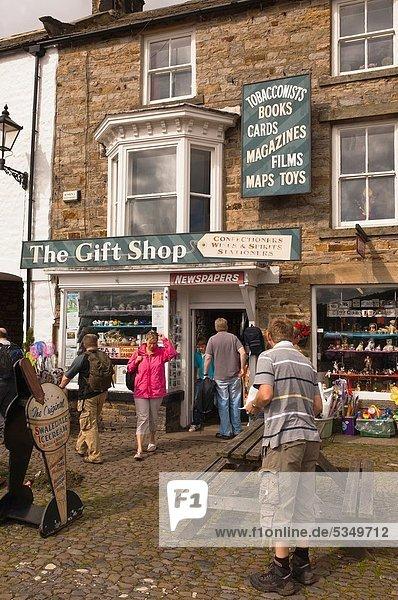 britisch Großbritannien Dorf Souvenirladen England North Yorkshire Swaledale