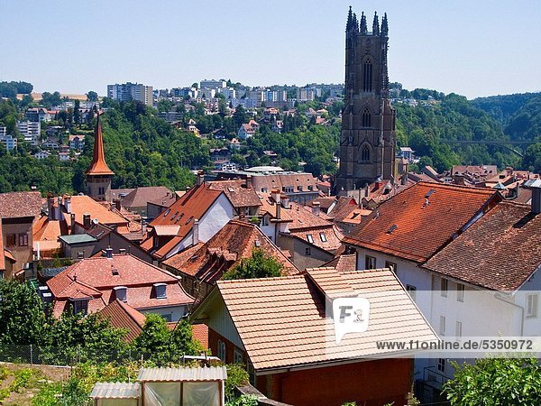 Downtown of Fribourg  Switzerland