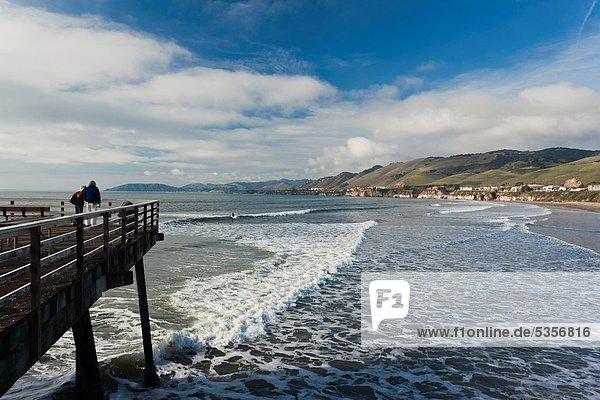 USA  California  Southern California  Pismo Beach  town pier  NR