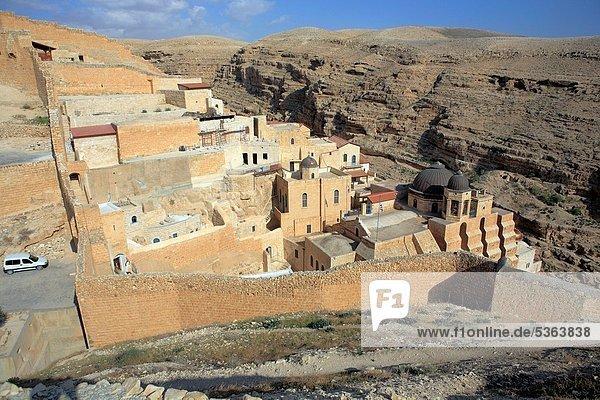 Greek orthodox monastery of St Saba  Mar Saba  Israel