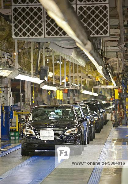 Vereinigte Staaten von Amerika USA Pflanze Chrysler hoch oben zusammenbauen Pfund Sterling 200 Michigan