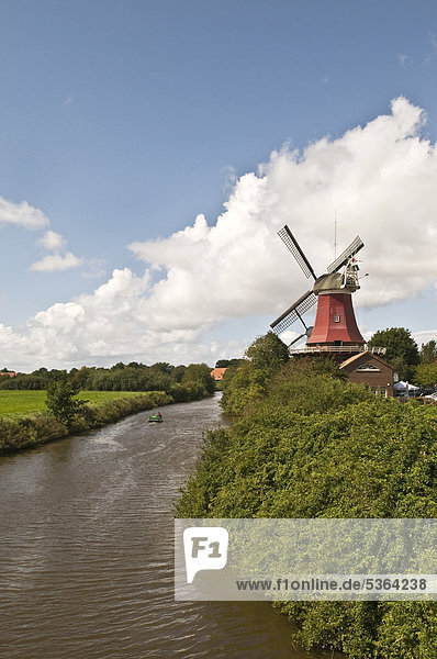 Europa Mühle Wind Dorf angeln Ostfriesland Deutschland Greetsiel Niedersachsen