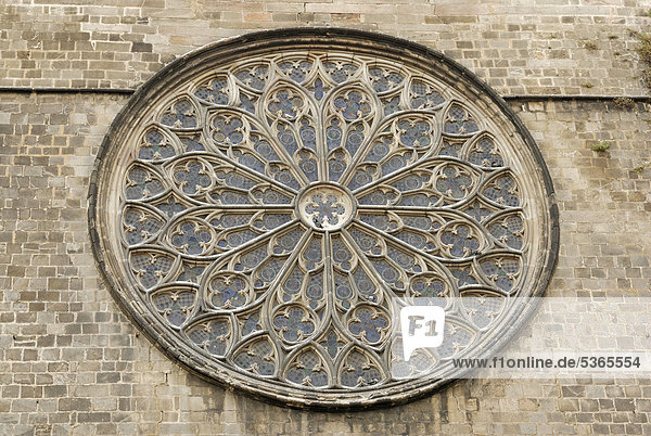 Europa Barcelona Katalonien Spanien Kirchenfenster