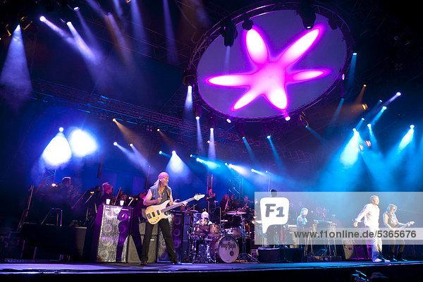 Deep Purple in concert in Dresden  Saxony  Germany  Europe