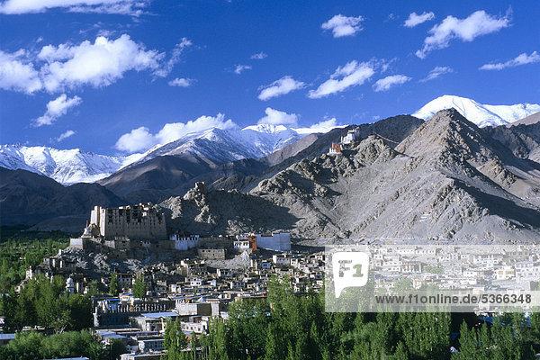 Leh  die frühere Hauptstadt des alten Königreichs von Ladakh  Jammu und Kaschmir  Indien  Asien