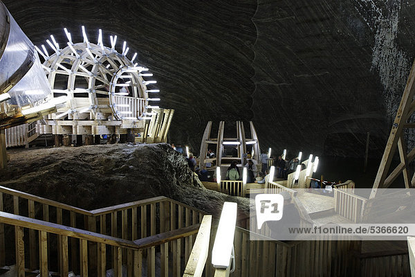 Salina Turda salt mine  Mina Terezia  Turda  Thorenburg  Cluj  Transylvania  Romania  Europe