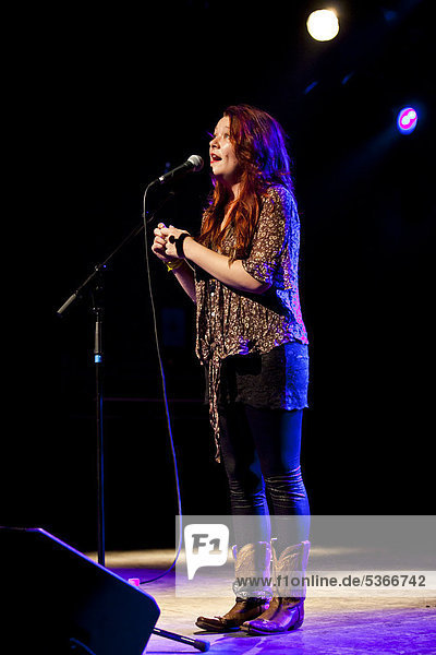 U.S. singer-songwriter Audra Mae performing live in the Schueuer Concert Hall  Lucerne  Switzerland  Europe