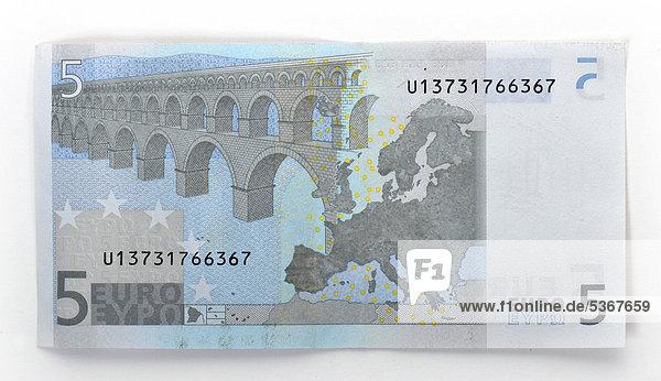 5 euro geldschein banknote r ckseite lizenzpflichtiges bild bildagentur f1online 5367659. Black Bedroom Furniture Sets. Home Design Ideas