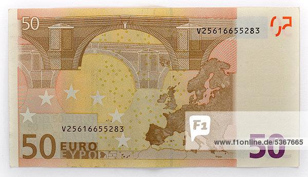 50 euro geldschein banknote r ckseite lizenzpflichtiges bild bildagentur f1online 5367665. Black Bedroom Furniture Sets. Home Design Ideas