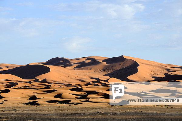 Sanddünen  Sandwüste  Erg Chebbi  Sahara  Südmarokko  Marokko  Maghreb  Nordafrika  Afrika