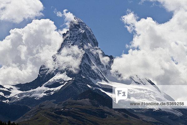 Europa Matterhorn Schweiz Zermatt Kanton Wallis