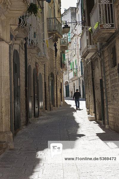 Europa Gasse Stadt Geschichte Apulien Italien