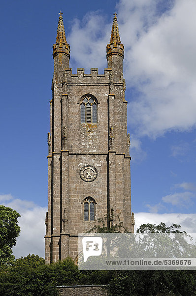 Church of St. Pancras  14th century  Widecombe in the Moor  Dartmoor  Devon  England  United Kingdom  Europe