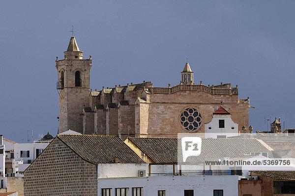 Catedral de Ciutadella Santa Maria  Kathedrale Santa Maria  Ciutadella  Menorca  Balearen  Spanien  Europa