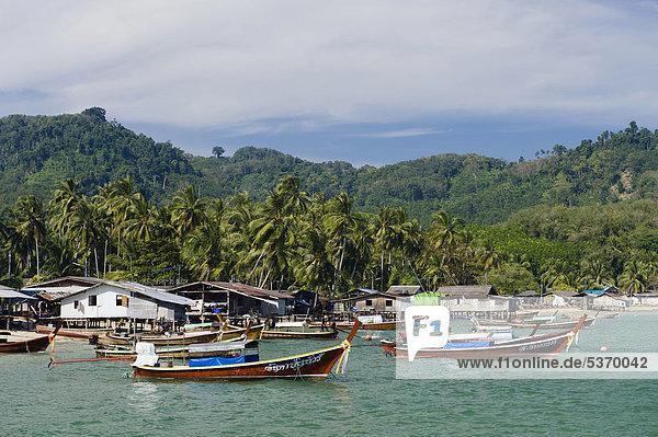 Insel Südostasien Fischerdorf Thailand