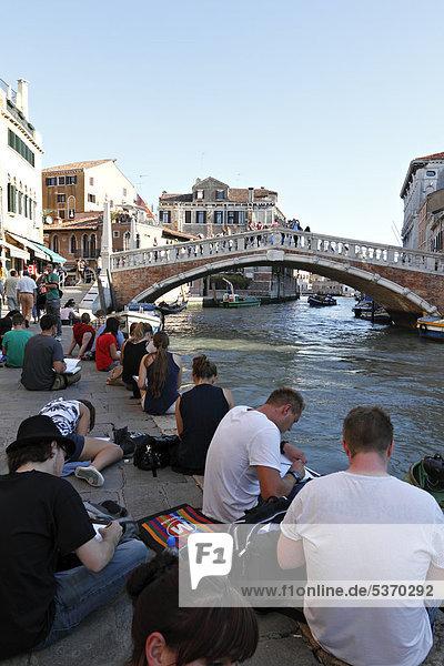 Europa Brücke Kunst Student Zeichnung Italien