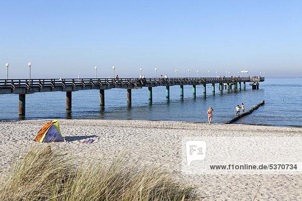 Pier  Heiligendamm  Baltic Sea  Mecklenburg-Western Pomerania  Germany  Europe