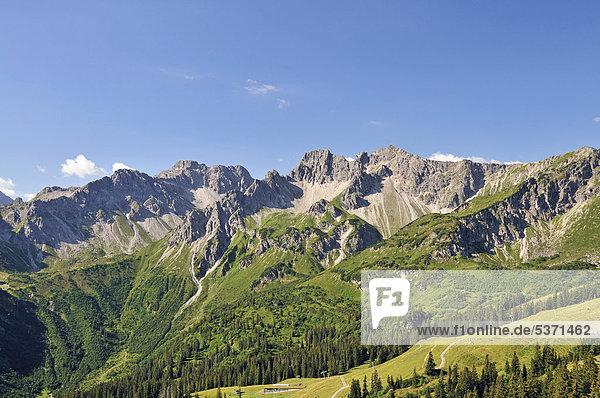 Schafalpenkopf  Hammerspitze  Allgäuer Alpen  Bayern  Deutschland  Europa  ÖffentlicherGrund