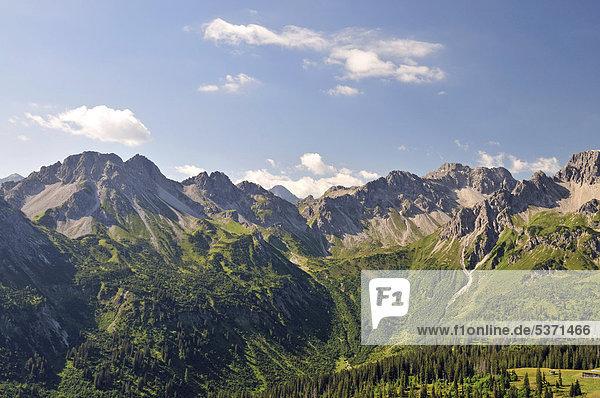 Schafalpenkopf  Allgäuer Alpen  Bayern  Deutschland  Europa  ÖffentlicherGrund