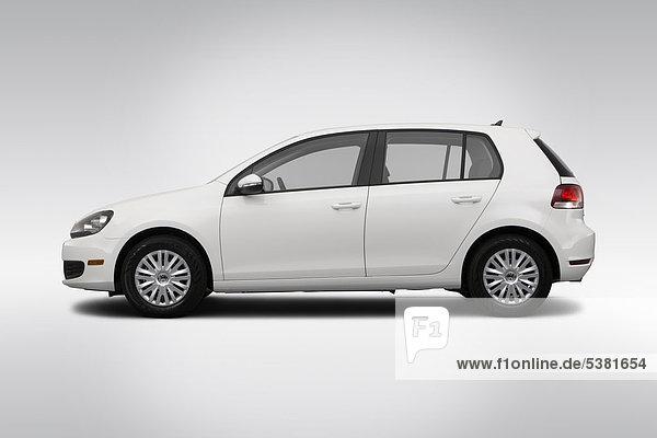 2012 VW Golf Euroumrechnung und Schiebedach in weiß - Treiber Seite Profil