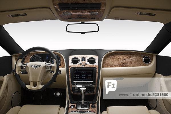 2012 Bentley Continental GT in blau - Armaturenbrett  Mittelkonsole  Getriebe Schalthebel anzeigen