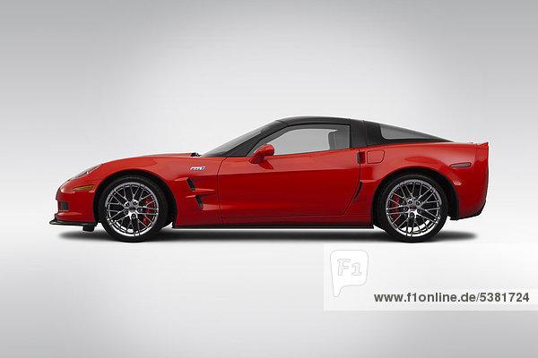 2012 Chevrolet Corvette ZR-1 in rot - Treiber Seite Profil