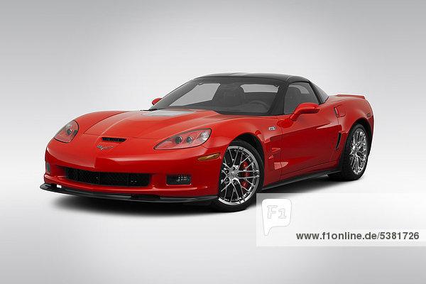 frontal rot Ansicht Flachwinkelansicht Chevrolet Corvette Winkel