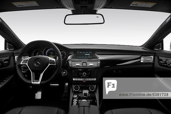 2012 Mercedes-Benz CLS-Klasse CLS63 AMG in Silber - Armaturenbrett  Mittelkonsole  Getriebe Schalthebel anzeigen