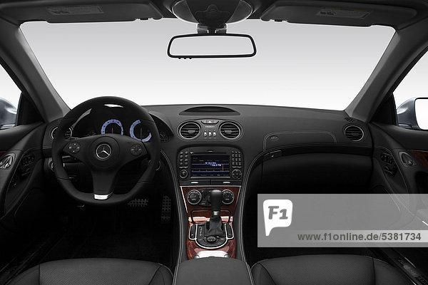 2012 Mercedes-Benz SL-Klasse SL550 in Silber - Armaturenbrett  Mittelkonsole  Getriebe Schalthebel anzeigen