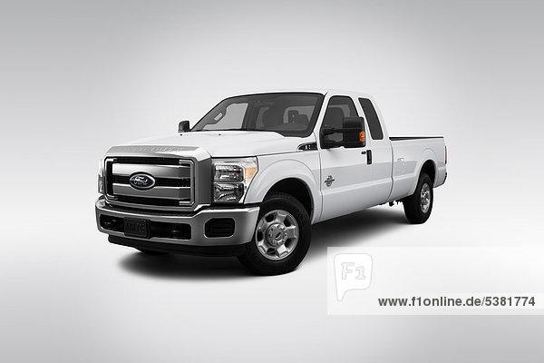 weiß frontal Ansicht Flachwinkelansicht Winkel Ford