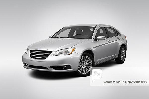 begrenzen frontal Ansicht Flachwinkelansicht Silber Chrysler 200 Winkel