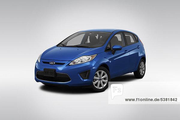 frontal blau Ansicht Flachwinkelansicht Winkel Ford