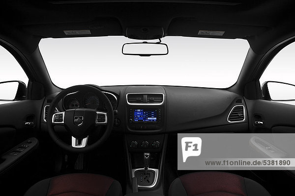 2012 Dodge Avenger SXT Plus in Silber - Armaturenbrett  Mittelkonsole  Getriebe Schalthebel anzeigen