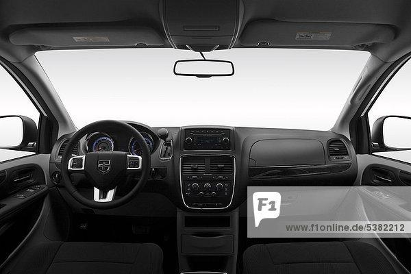 2012 Dodge Grand Caravan SE in weiß - Armaturenbrett  Mittelkonsole  Getriebe Schalthebel anzeigen