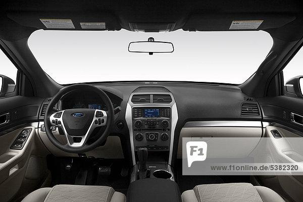 2012 Ford Explorer Base in Silber - Armaturenbrett  Mittelkonsole  Getriebe Schalthebel anzeigen