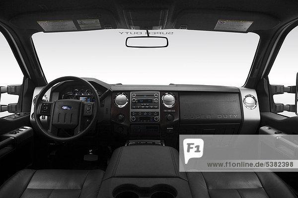 2012 Ford F-350 SD Lariat in weiß - Armaturenbrett  Mittelkonsole  Getriebe Schalthebel anzeigen