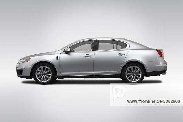 2012 Lincoln MKS Ecoboost in Silber - Treiber Seite Profil