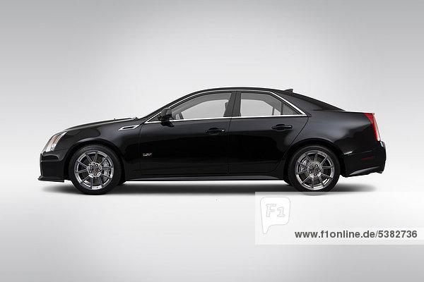 2012 Cadillac CTS-V in schwarz - Treiber Seite Profil