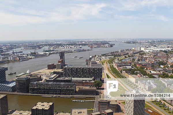 Cityscape of Rotterdam  Holland  the Netherlands  Europe