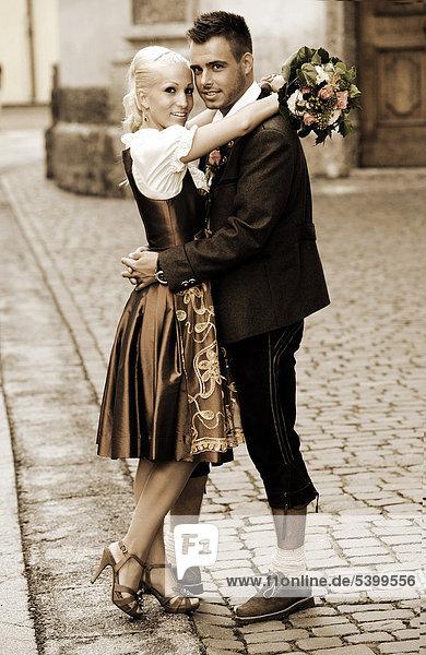 Hochzeit Braut Und Brautigam In Tracht Ibxset02046307 Imagebroker